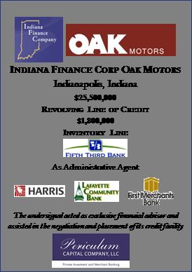 Indiana Finance Corp Oak Motors